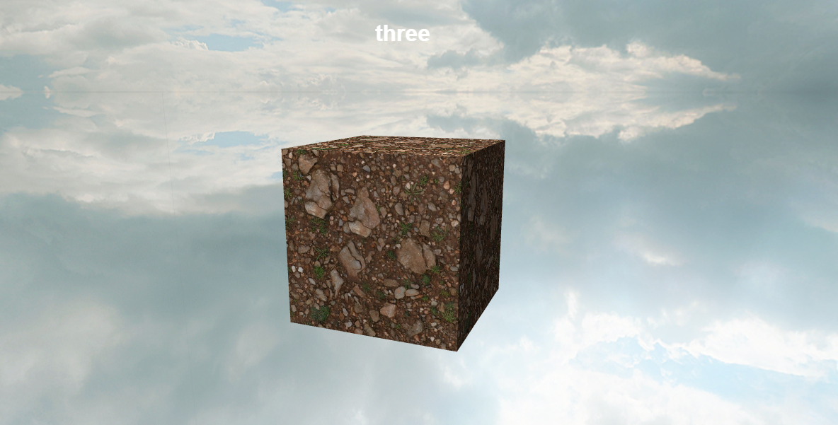 Three.js three