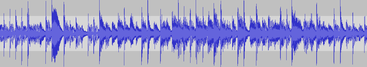 A sound waveform.