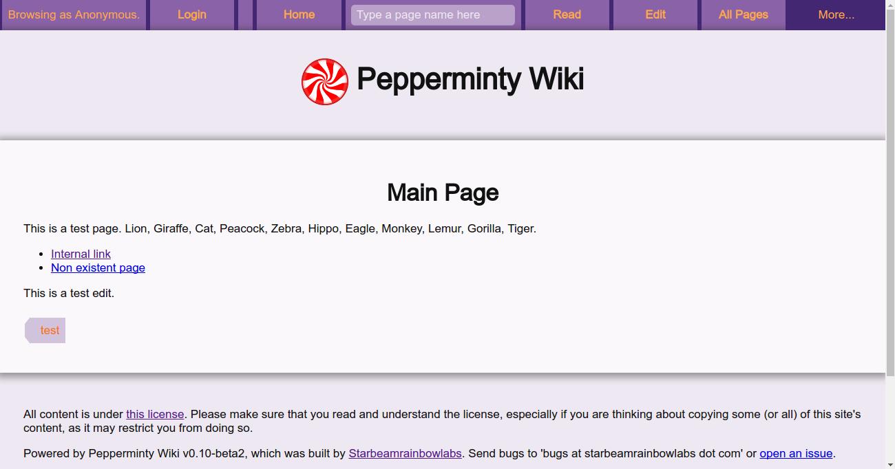 Pepperminty Wiki
