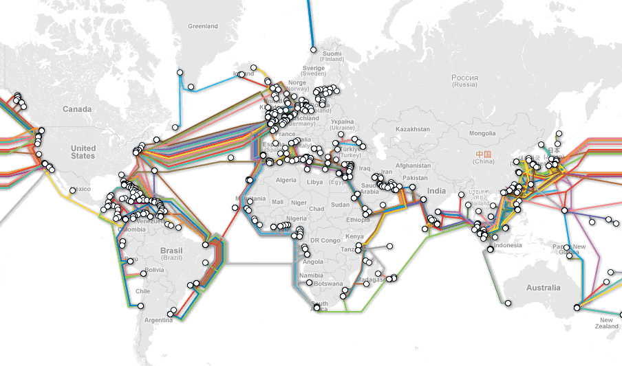 A map of undersea cables.