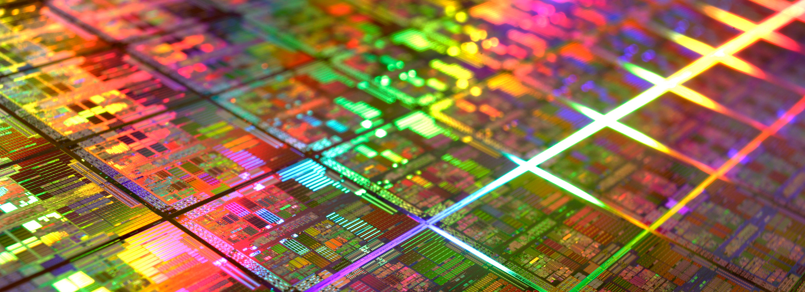 A colourful microchip banner.