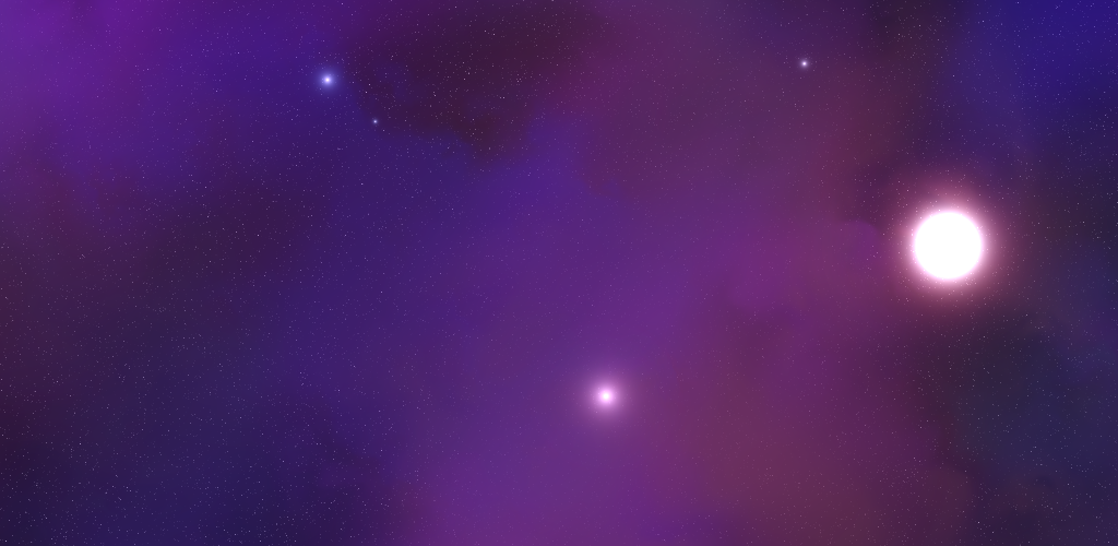 A pretty procedurally generaated nebula. Code not written by me!