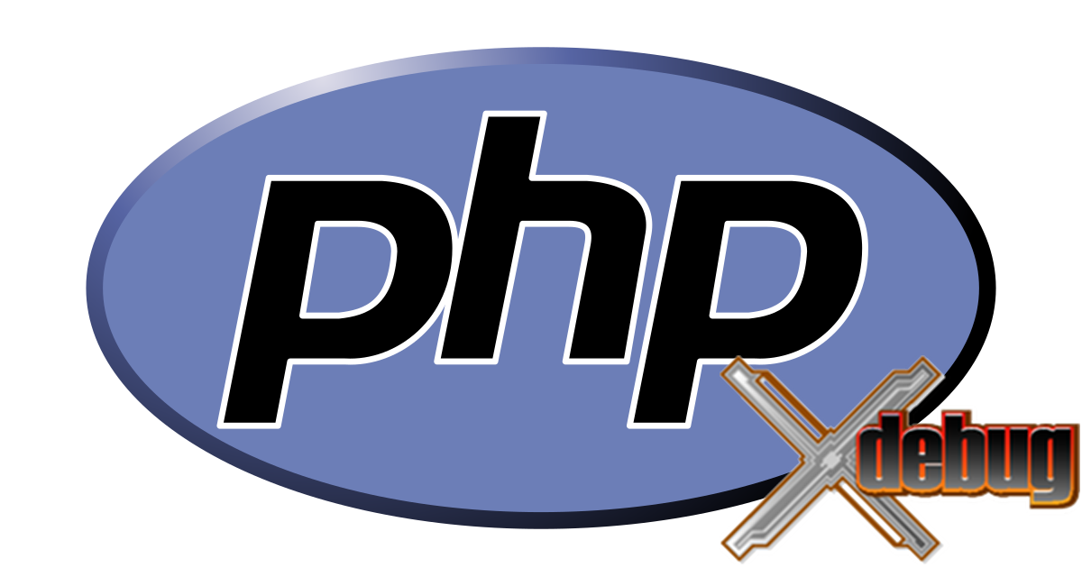 The PHP and xdebug logos.