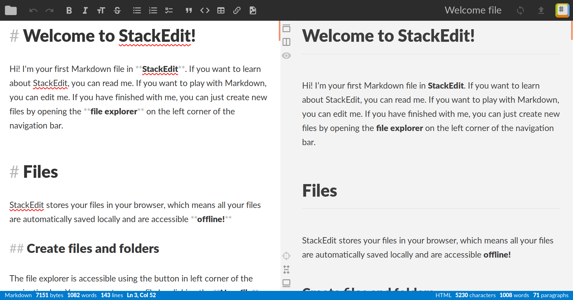 A Screenshot of StackEdit.