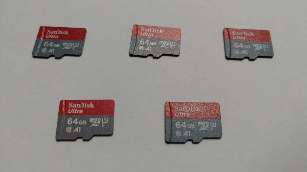 Some microSD cards