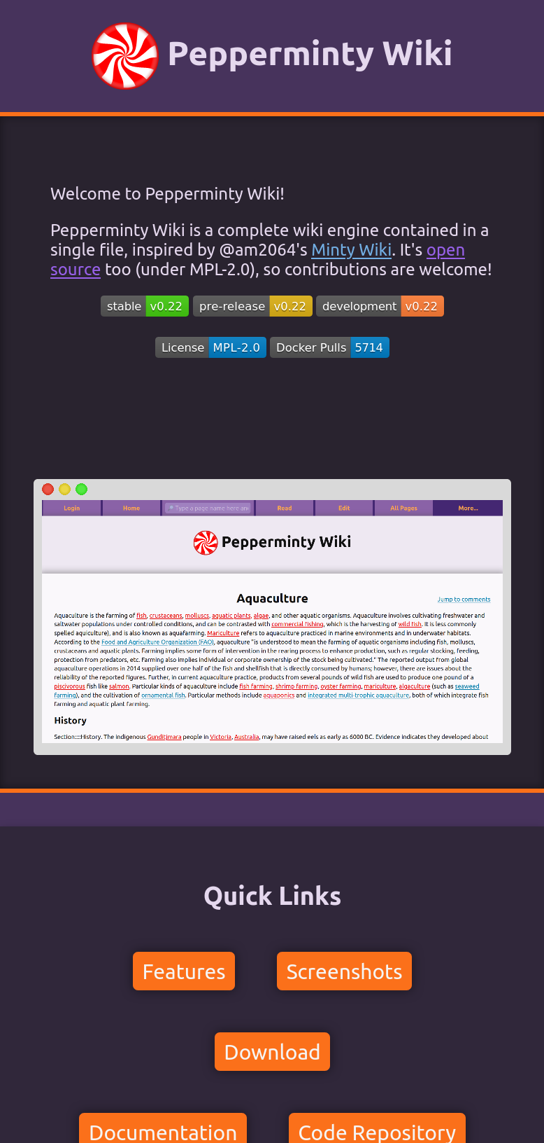 A screenshot of the website as viewed by a mobile device
