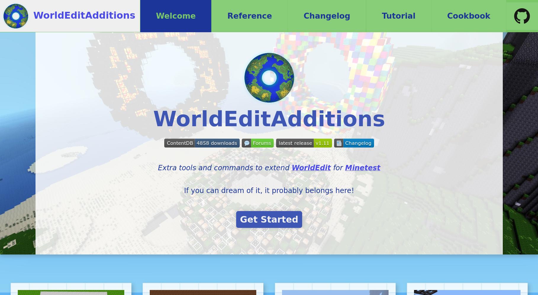 The WorldEditAdditions website
